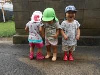 ☆水溜りで遊ぶ子たち☆